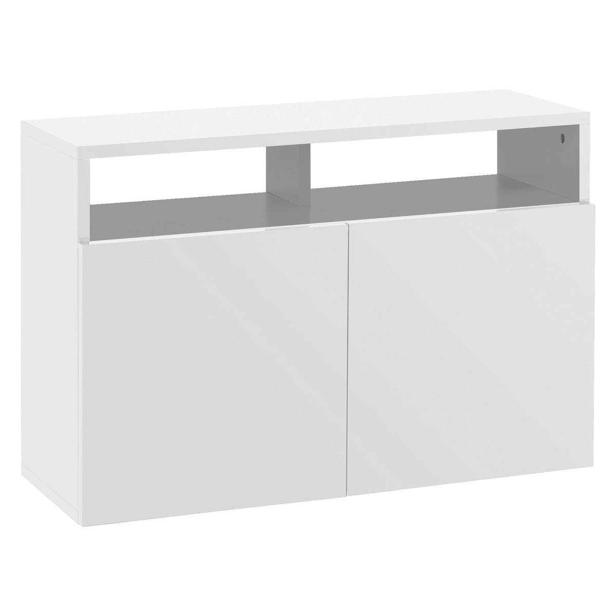 Kubrik White High Gloss Small Sideboard | Buy Now At Habitat Uk in White Sideboards (Image 10 of 30)