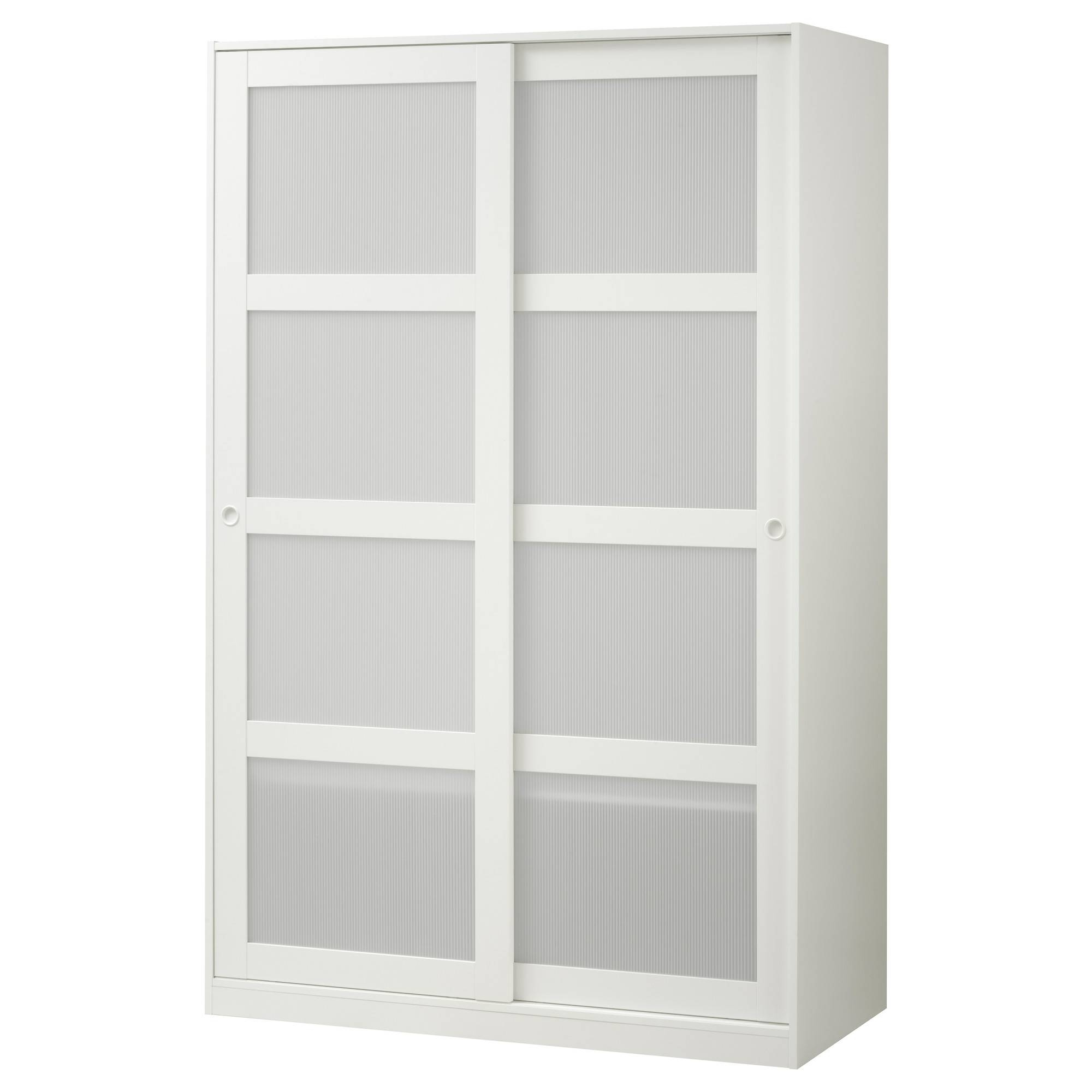 Kvikne Wardrobe With 2 Sliding Doors White 120X190 Cm - Ikea inside Wardrobes With 2 Sliding Doors (Image 9 of 15)