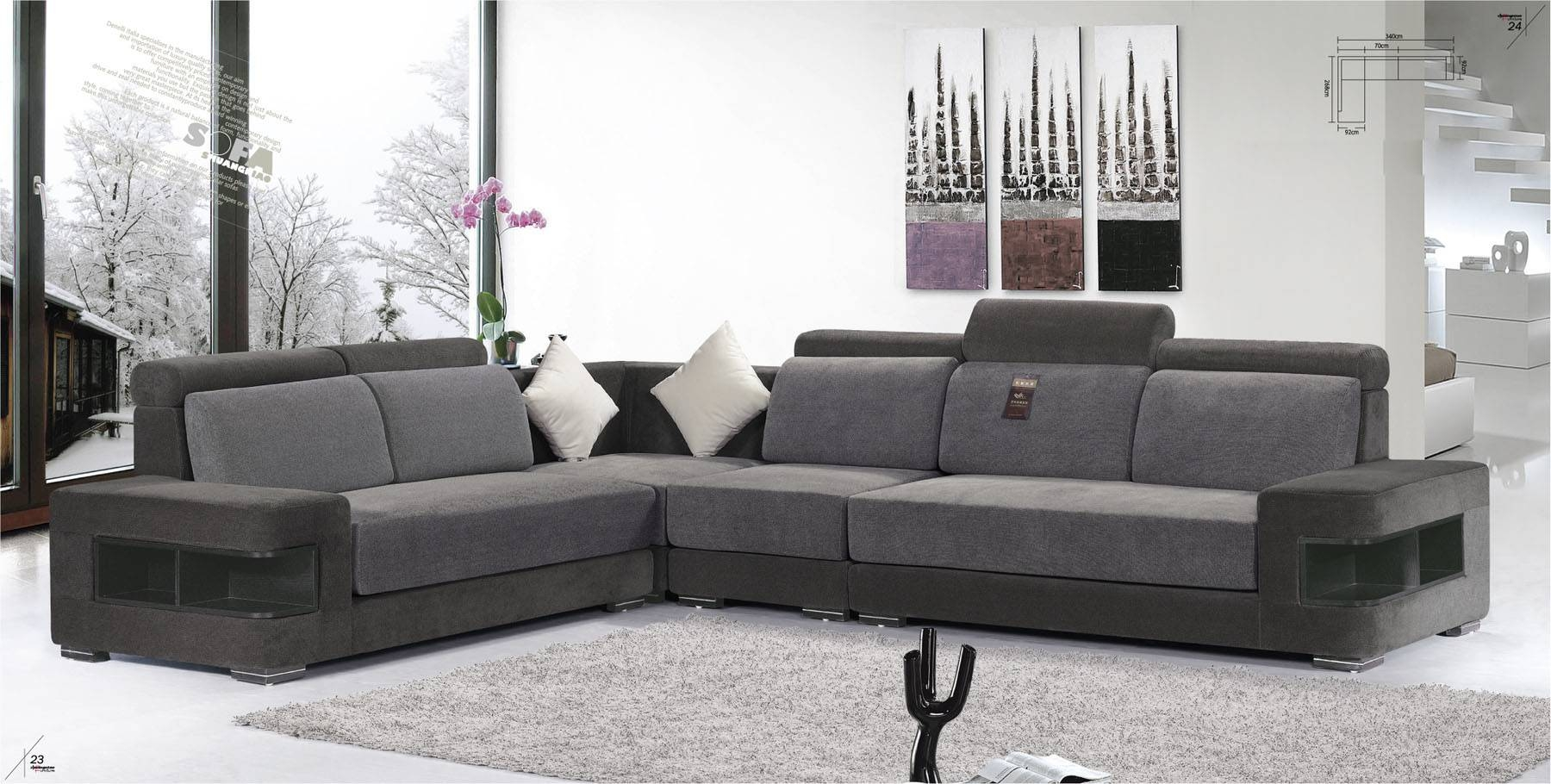 Featured Photo of L Shaped Fabric Sofas