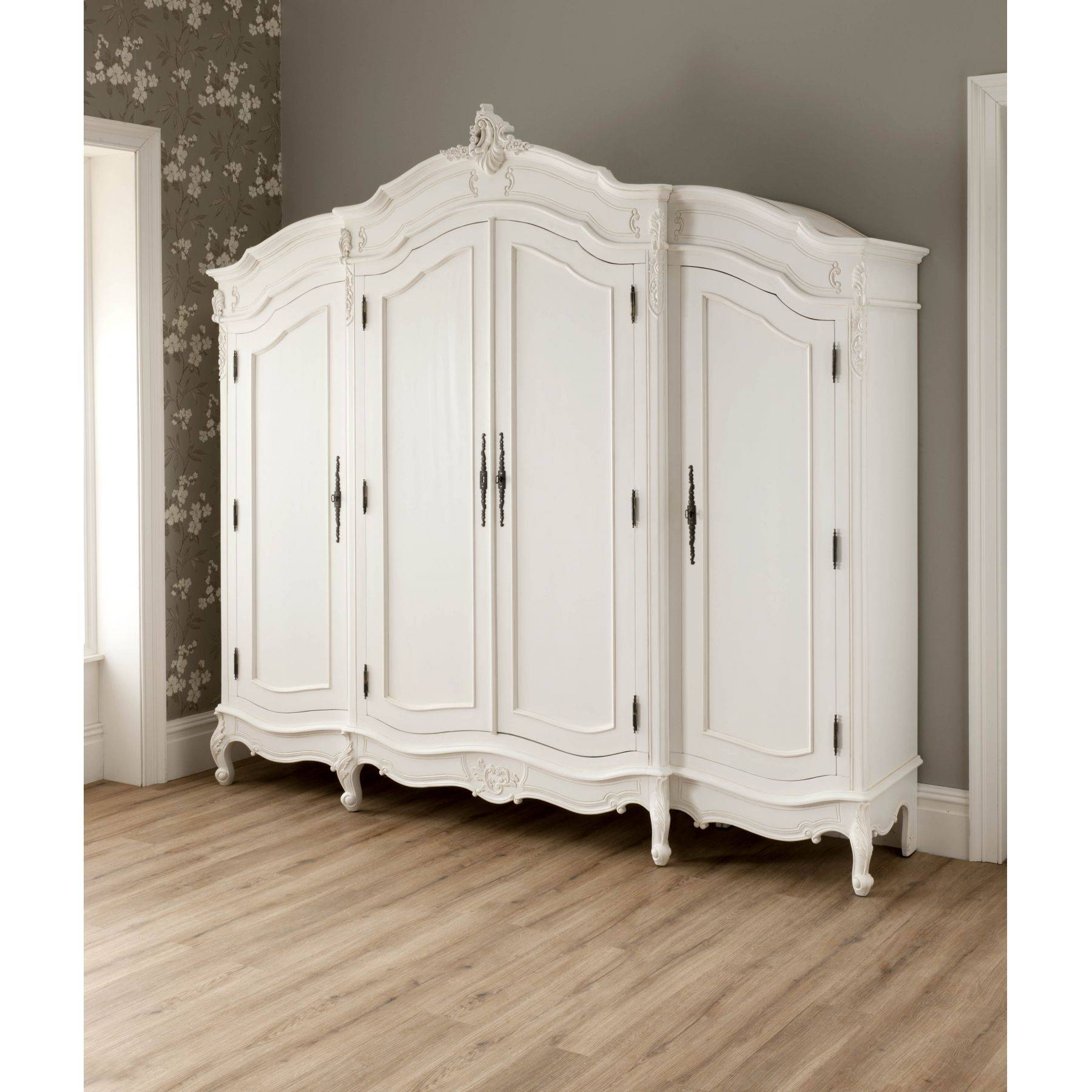 Featured Photo of French Style White Wardrobes