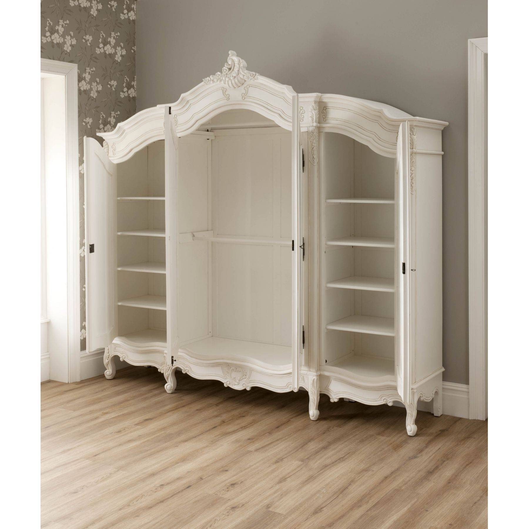 La Rochelle Antique French Wardrobe Working Well Alongside Our within White French Style Wardrobes (Image 9 of 15)