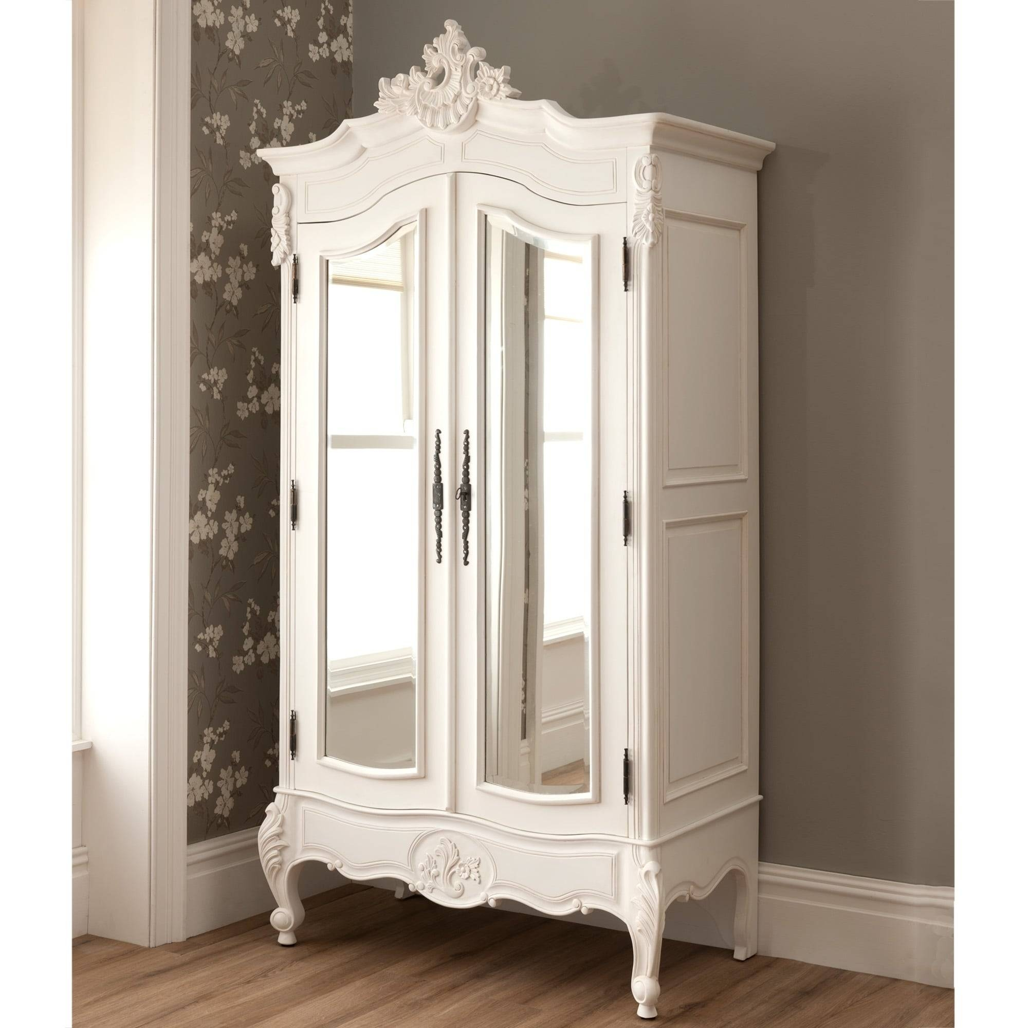 La Rochelle Shabby Chic Antique Style Wardrobe | Shabby Chic Furniture intended for Cheap French Style Wardrobes (Image 9 of 15)
