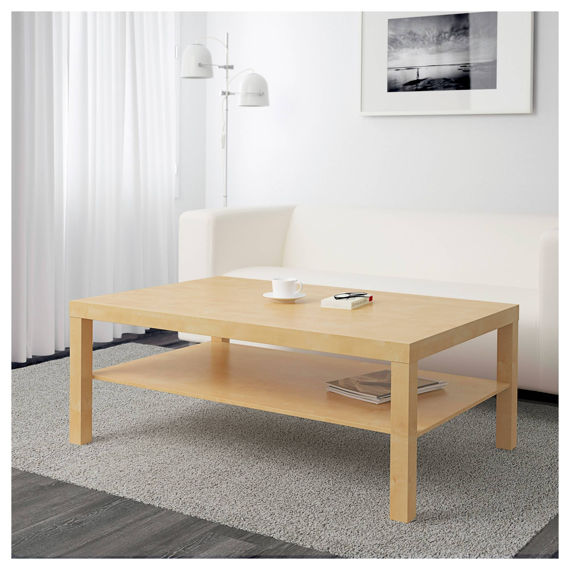 Lack Coffee Table - Birch Effect - Ikea inside Birch Coffee Tables (Image 13 of 30)