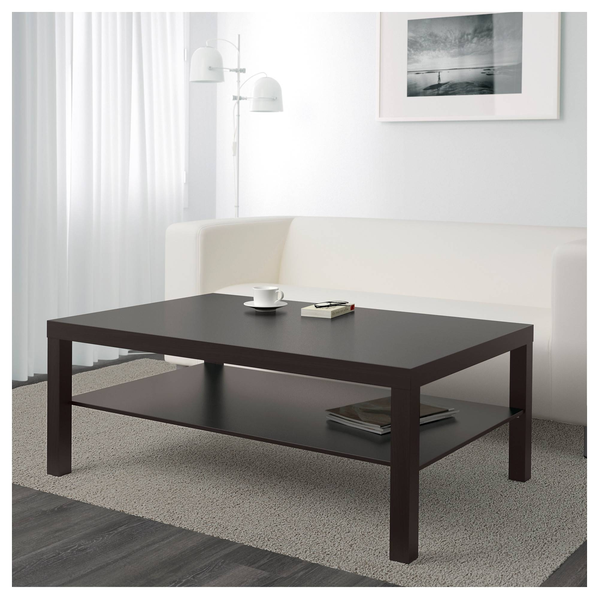 Lack Coffee Table - Black-Brown - Ikea with Dark Coffee Tables (Image 26 of 30)
