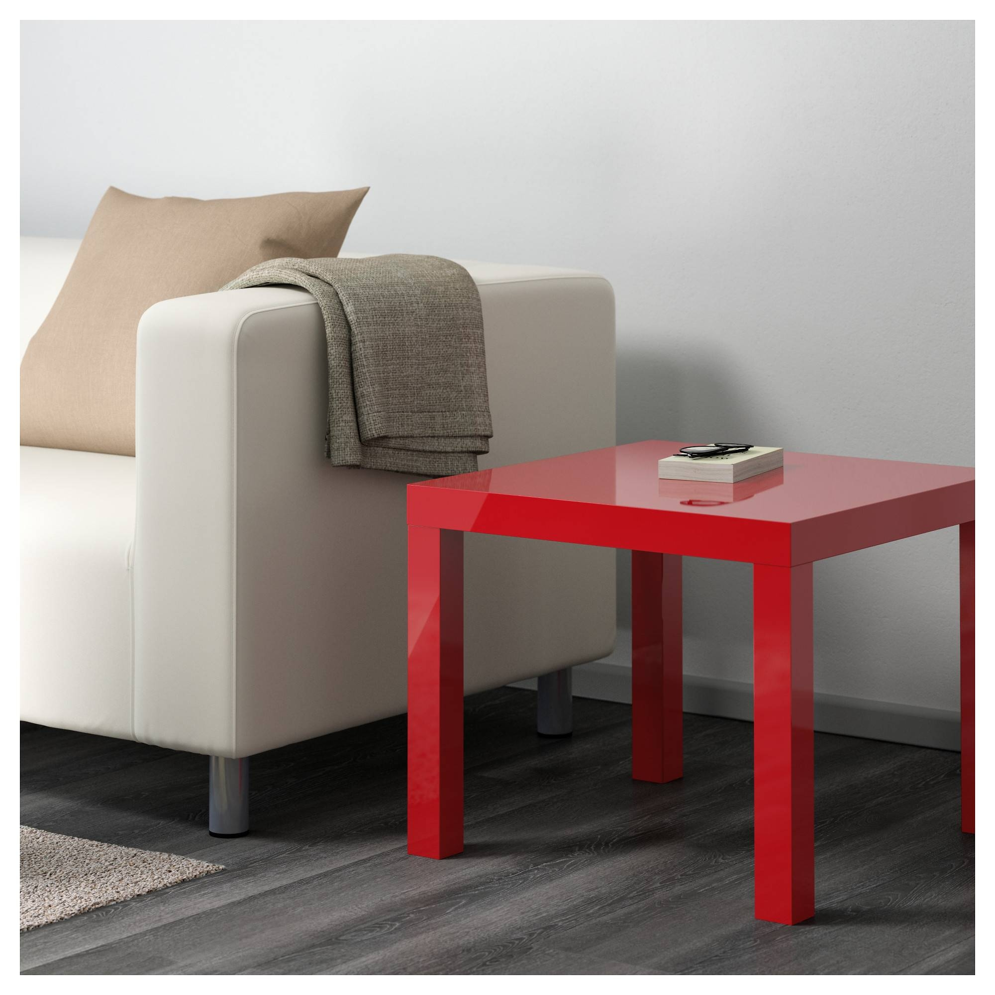 "Lack Side Table - High Gloss Red, 21 5/8X21 5/8 "" - Ikea with Red Gloss Coffee Tables (Image 14 of 30)"