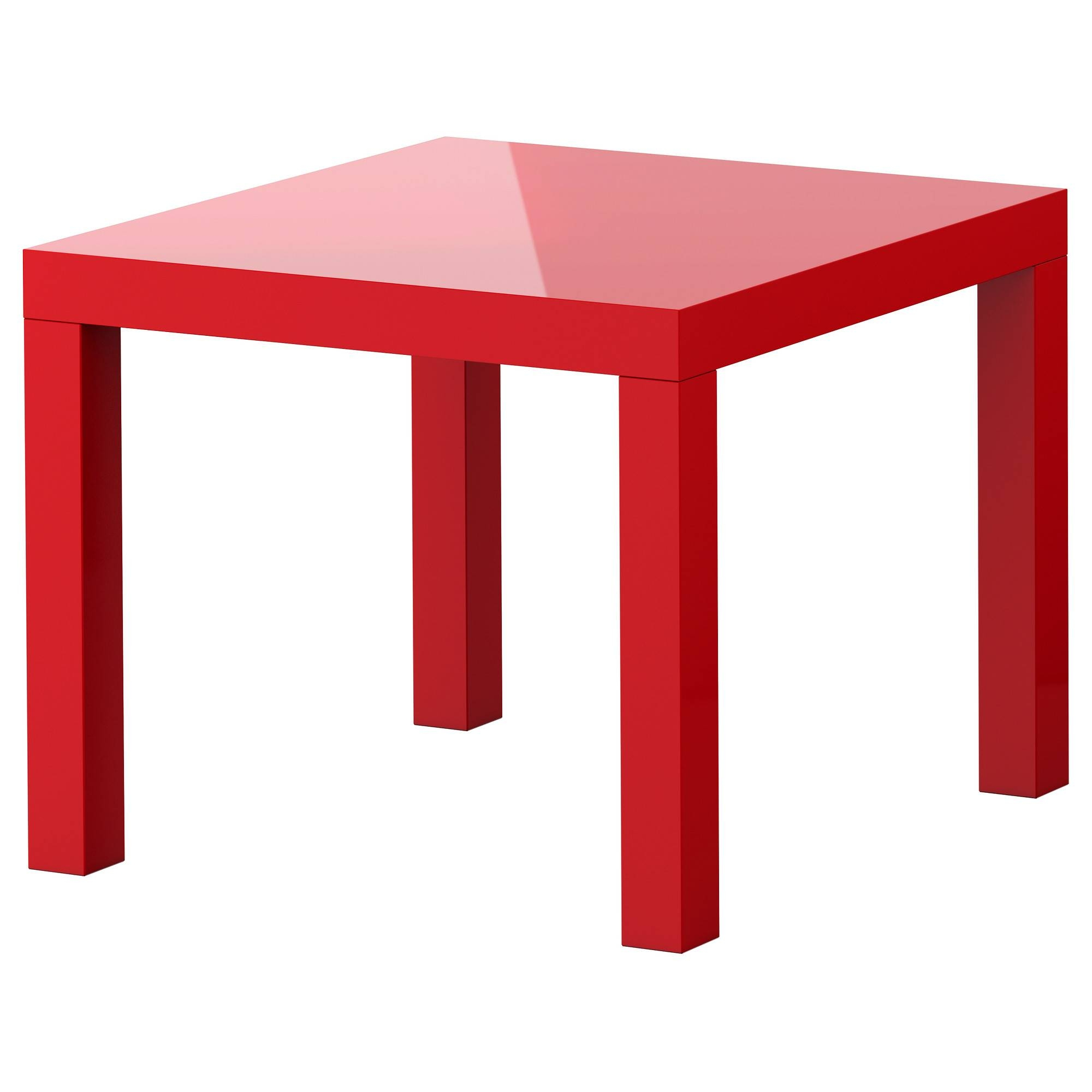 "Lack Side Table - High Gloss Red, 21 5/8X21 5/8 "" - Ikea with Red Gloss Coffee Tables (Image 13 of 30)"