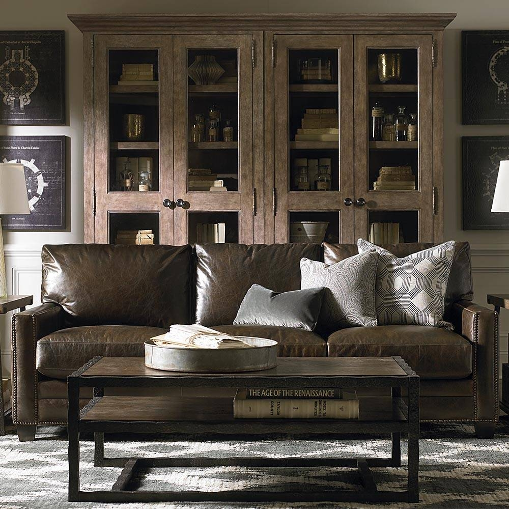 Ladson Leather Queen Sleeper Sofa | Bassett Home Furnishings in Bassett Sofa Bed (Image 13 of 30)