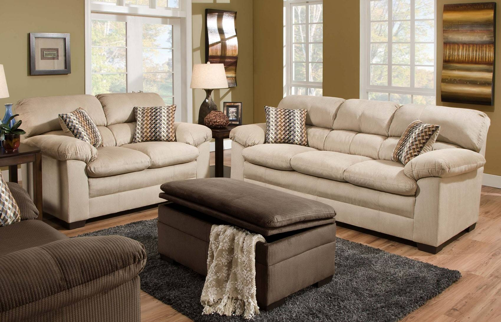Lakewood Oversized Sofa Loveseat Set Beige Orange County Ca With Sofas Orange County (View 4 of 30)