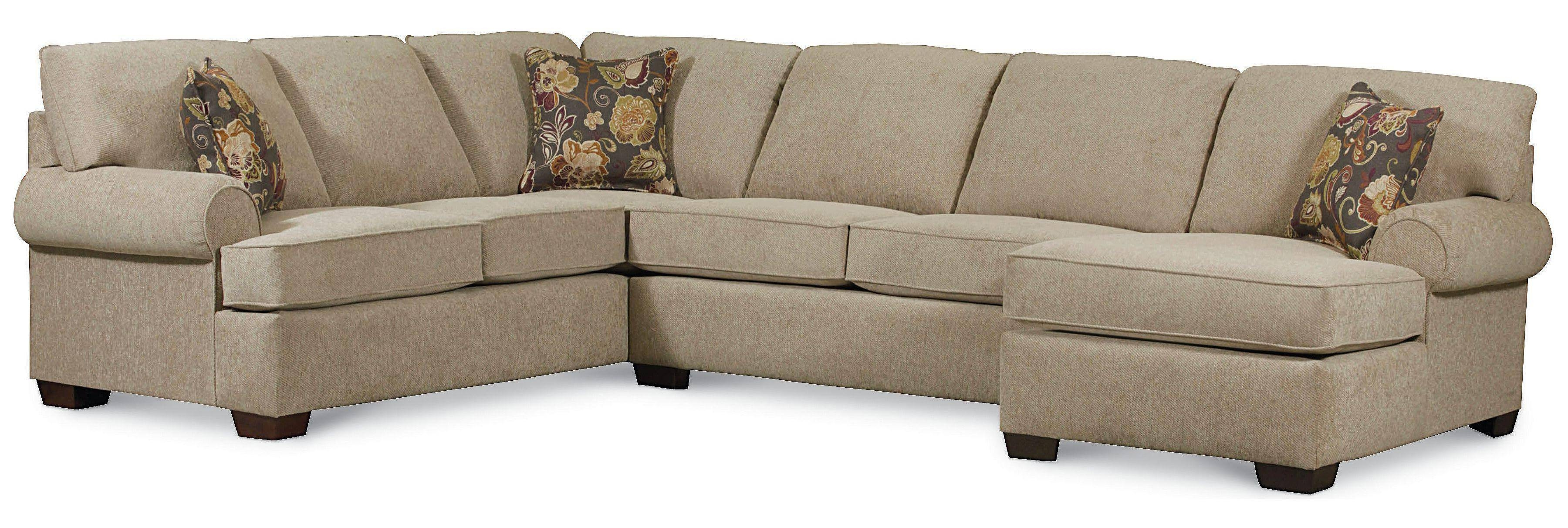 Lane Vivian Transitional 3 Piece Sectional Sofa - Rune's Furniture for 45 Degree Sectional Sofa (Image 13 of 30)