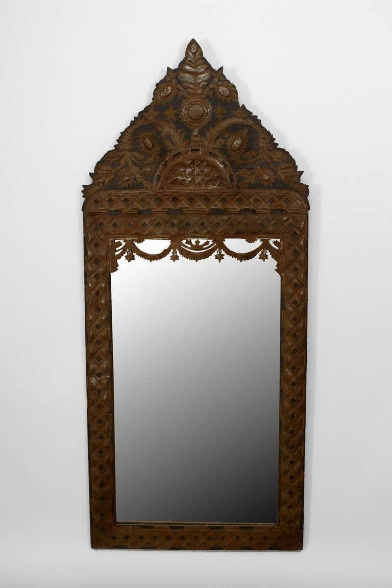 Large 1920's Mexican Carved Wall Mirror For Sale At 1Stdibs for Large Antique Wall Mirrors (Image 14 of 25)