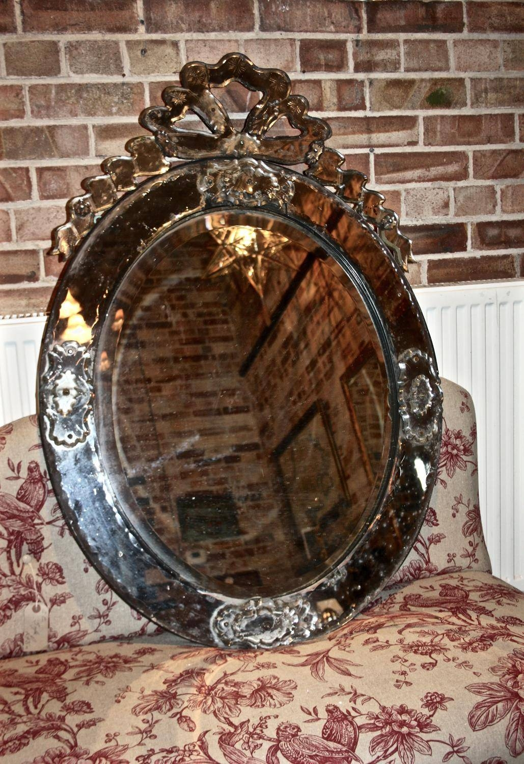 Large 19Th Century Venetian Mirror In Mirrors for Large Venetian Mirrors (Image 6 of 25)