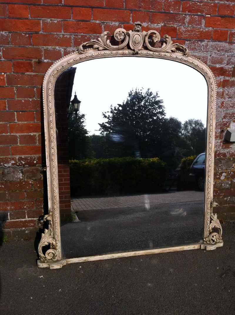 Large 19Thcentury Ivory Overmantle Mirror - Antique All Our within Overmantle Mirrors (Image 13 of 25)