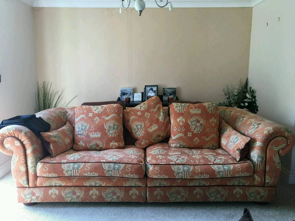 Large 4 Seater And 3 Seater Sofa | In St Osyth, Essex | Gumtree within Large 4 Seater Sofas (Image 17 of 30)