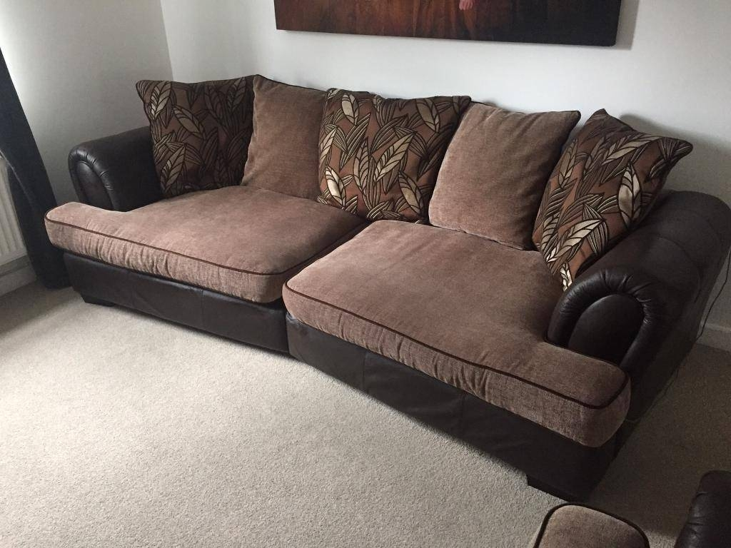 Large 4 Seater Sofa Chair And Footstool | In Nottingham regarding Large 4 Seater Sofas (Image 18 of 30)