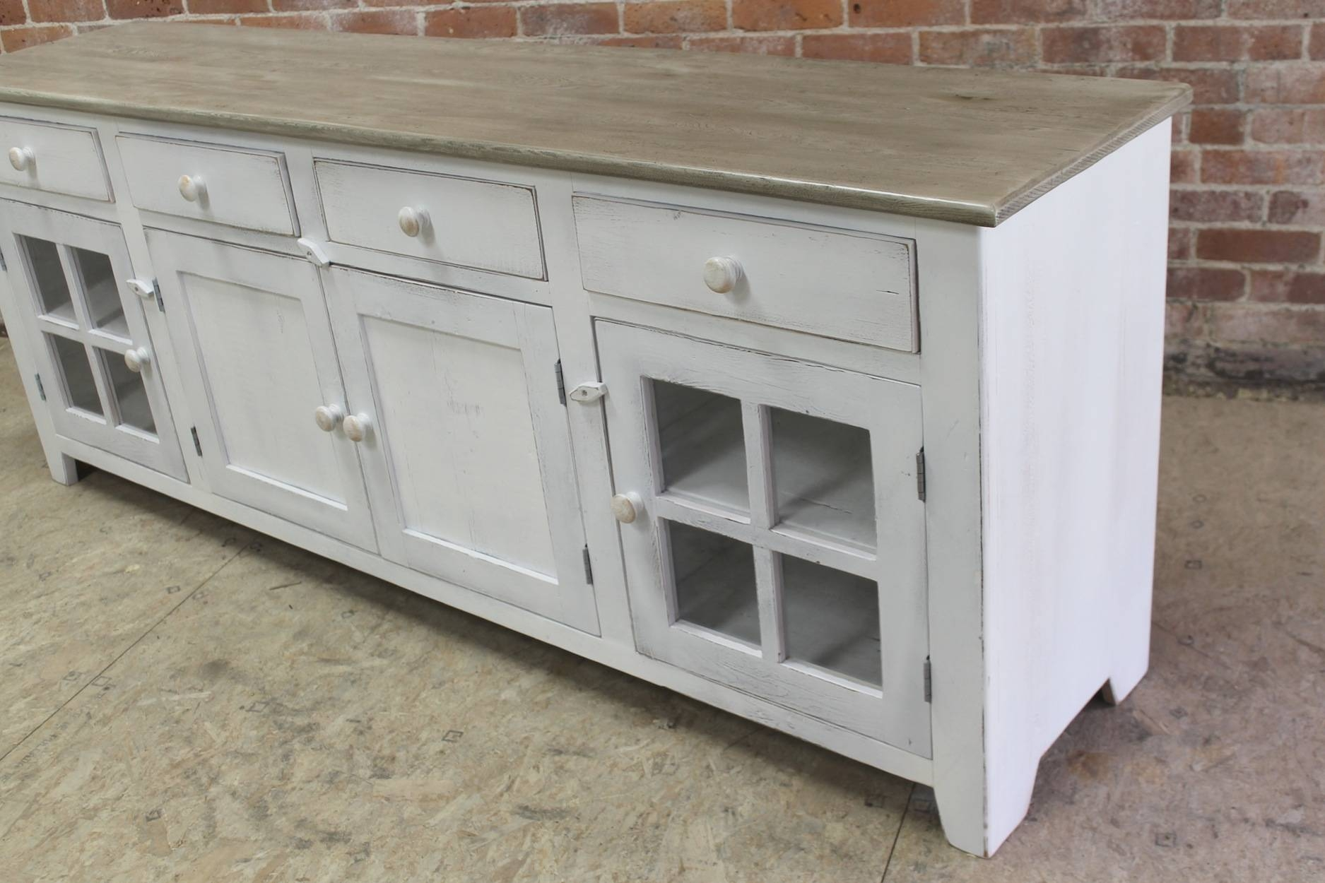 Large 80inch Coastal Server – Ecustomfinishes In 80 Inch Sideboards (View 10 of 30)