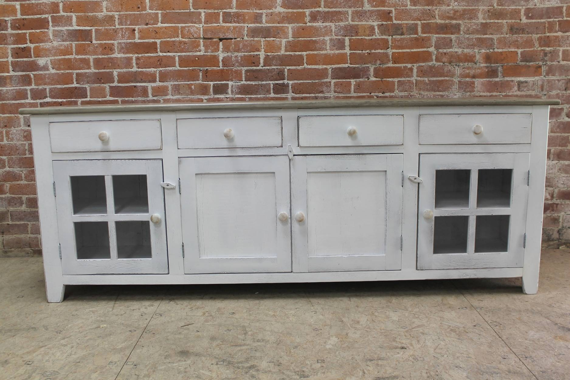 Large 80Inch Coastal Server - Ecustomfinishes regarding 80 Inch Sideboards (Image 11 of 30)