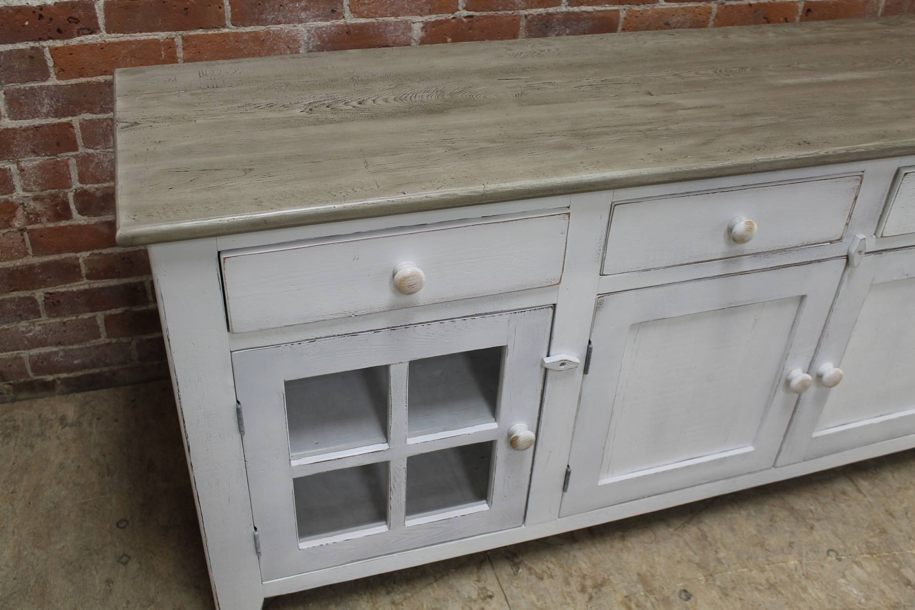Large 80inch Coastal Server – Ecustomfinishes With 80 Inch Sideboards (View 11 of 30)