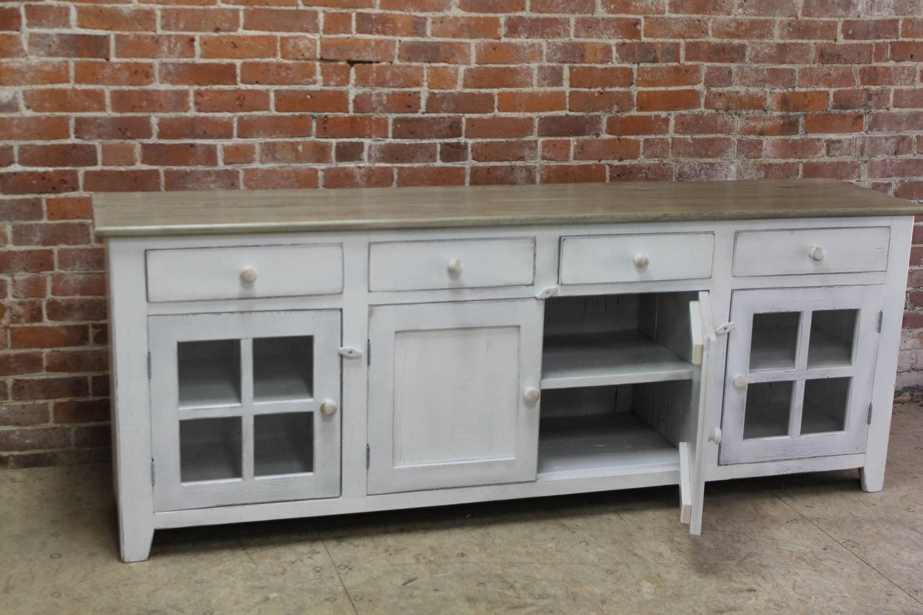 Large 80inch Coastal Server – Ecustomfinishes With 80 Inch Sideboards (View 4 of 30)