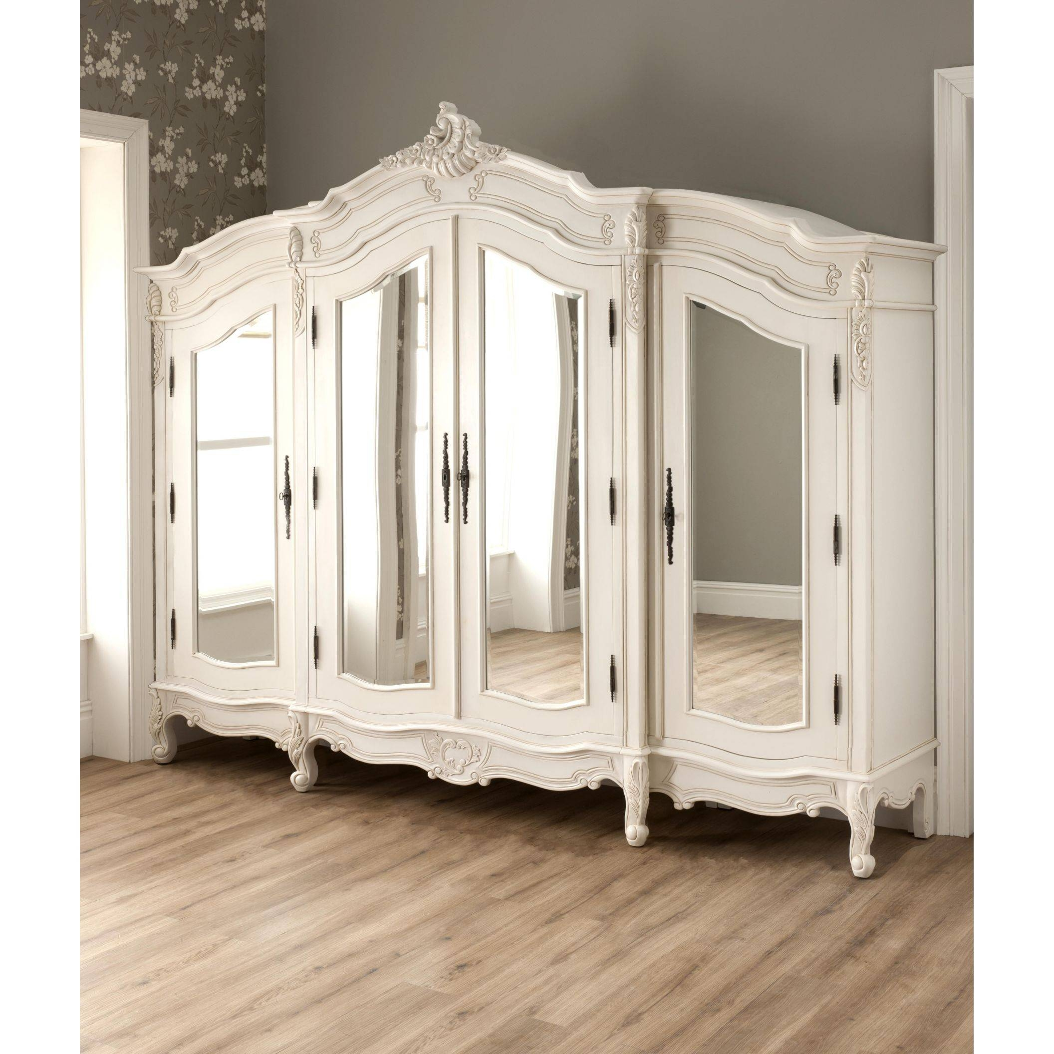 Large Antique French Wardrobe Compliments Our Fantastic Shabby throughout Large Shabby Chic Wardrobes (Image 4 of 15)