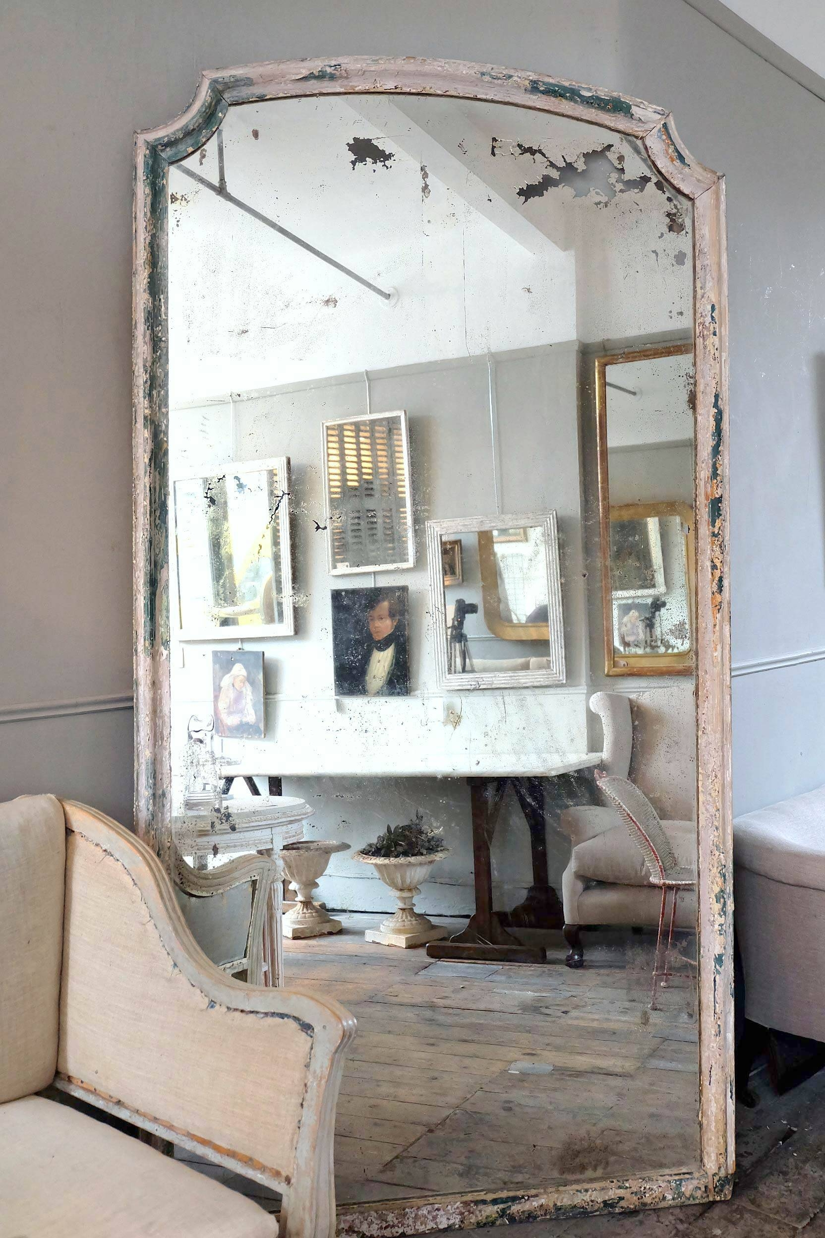 Large Antique Italian Mirror › Puckhaber Decorative Antiques regarding Large Antiqued Mirrors (Image 12 of 25)