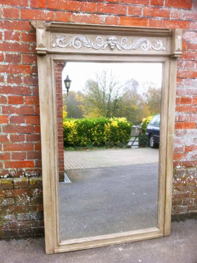 Large Antique Oak Wall Mirror - Antique All Our Antique Mirrors intended for Large Antiqued Mirrors (Image 15 of 25)