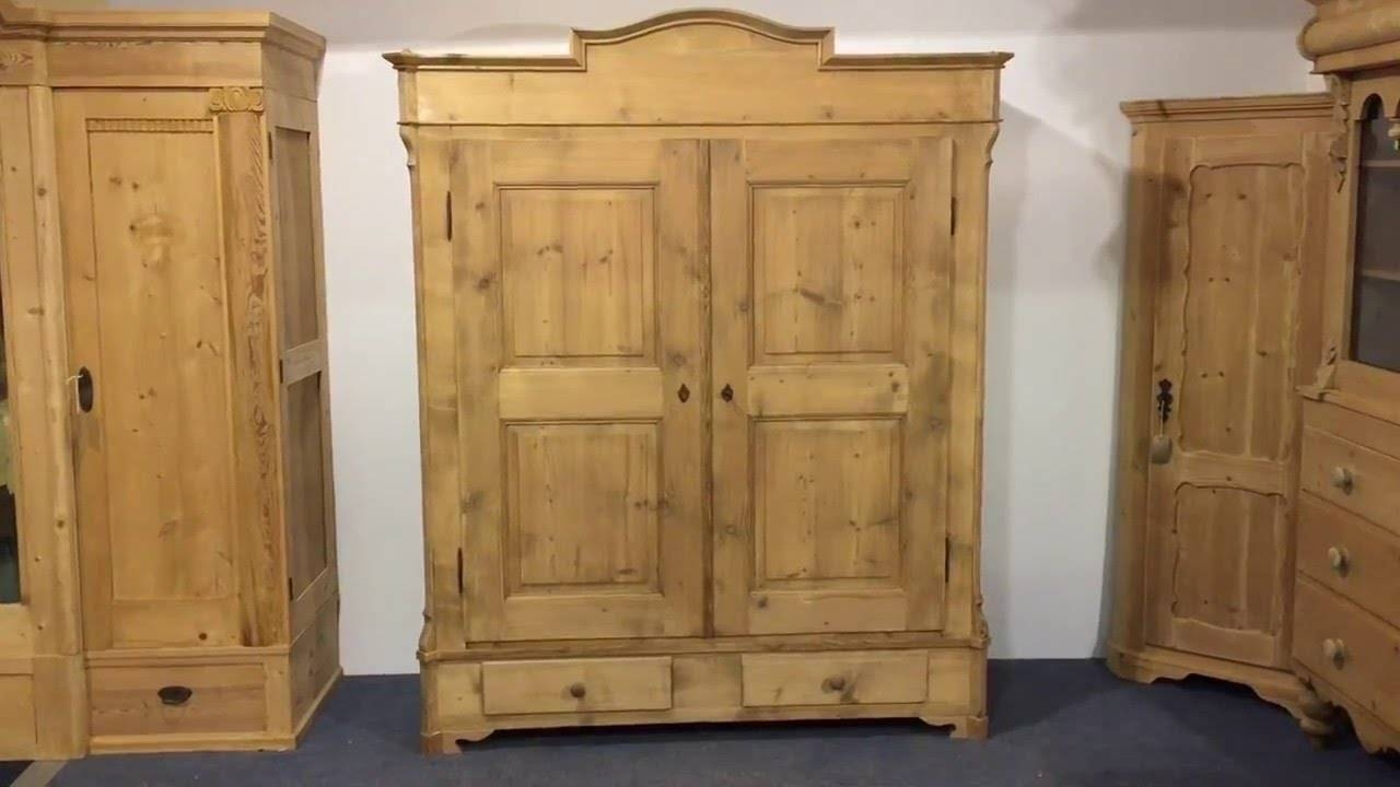 Large Antique Pine Wardrobe For Sale (Dismantles) - Pinefinders in Large Antique Wardrobes (Image 8 of 15)