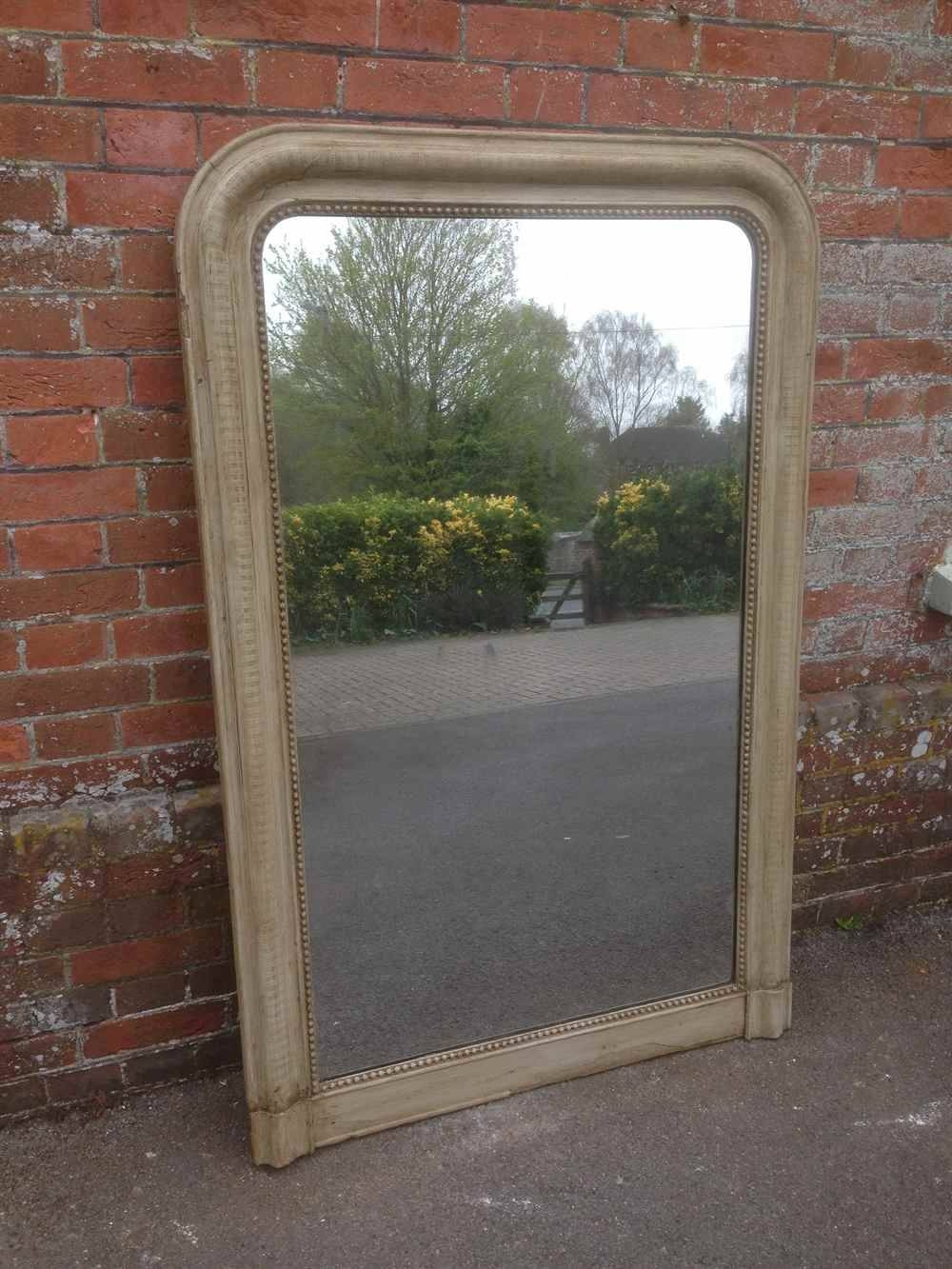 Large Arched Top Highly Useful Antique French Painted Ribbed Intended For Antique Large Mirrors (View 11 of 25)