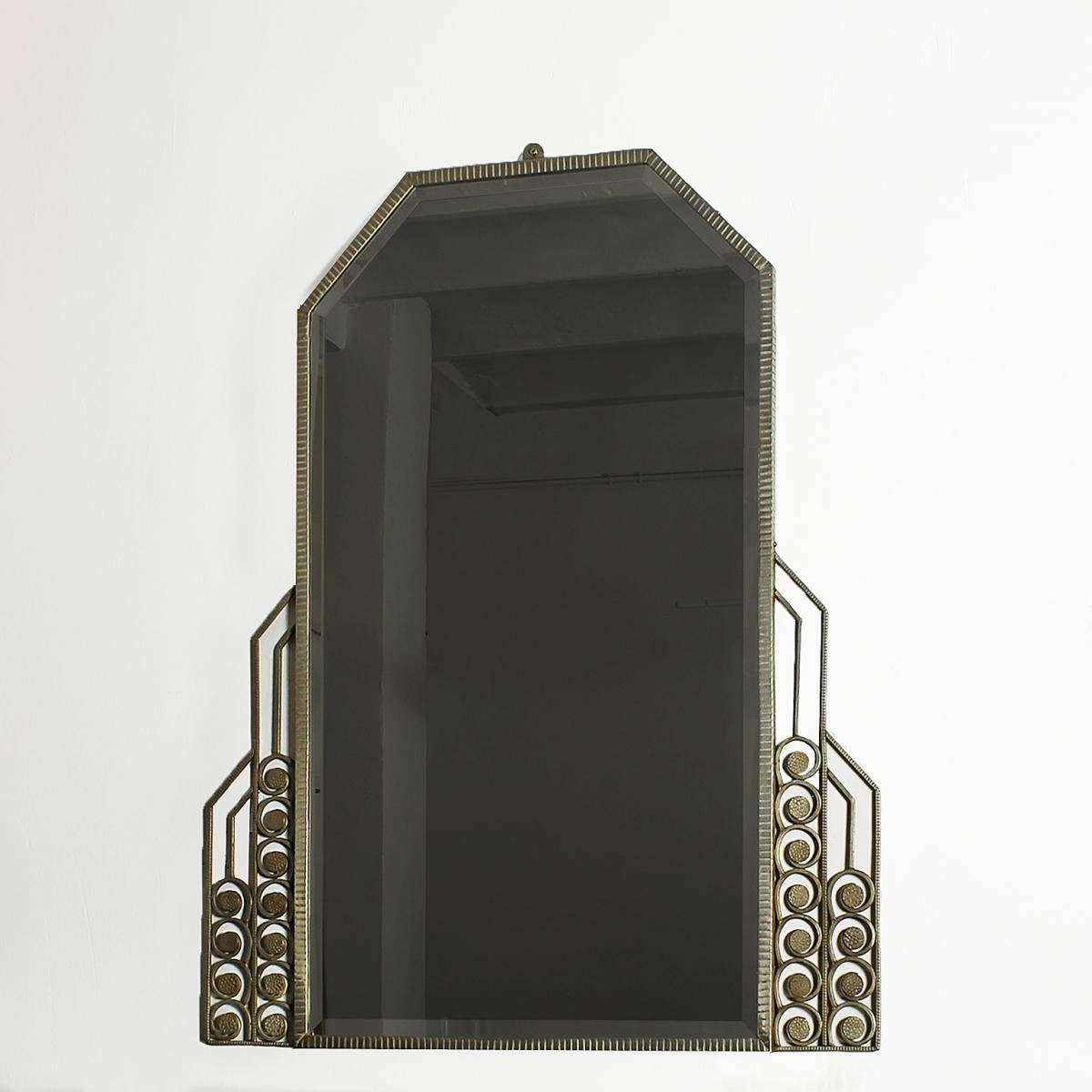 Large Art Deco Mirror, 1930S For Sale At Pamono in Art Deco Mirrors (Image 21 of 25)