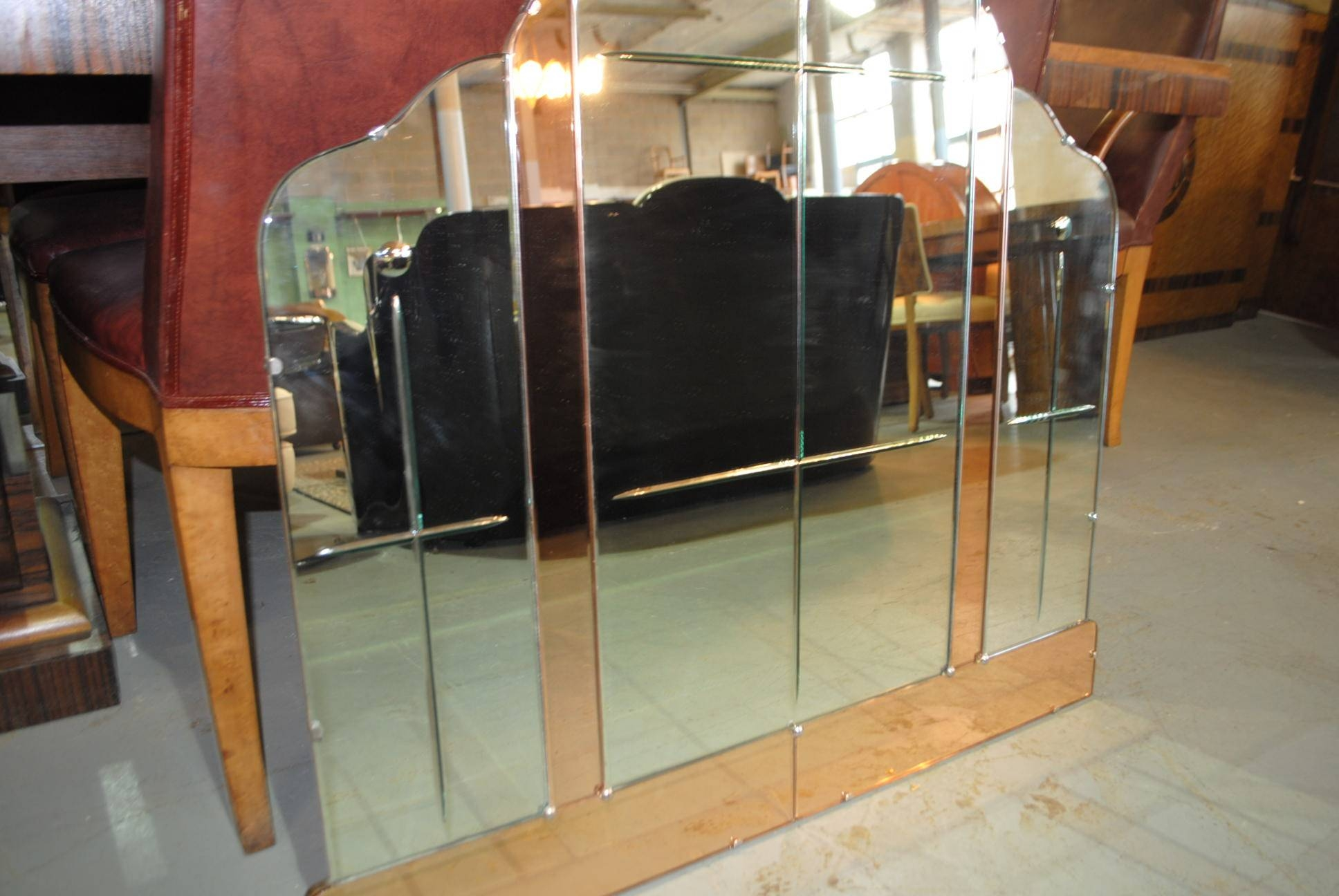 Large Art Deco Mirror || Cloud 9, Art Deco Furniture Sales With Original Art Deco Mirrors (View 7 of 25)