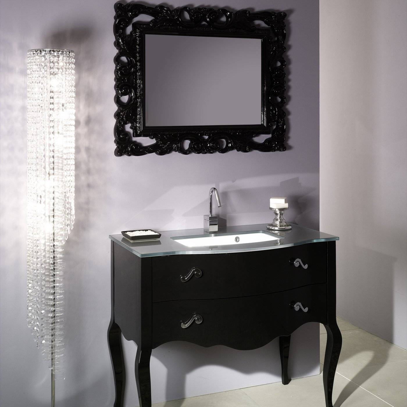 Large Black Framed Wall Mirror 103 Trendy Interior Or Large Black Throughout Black Shabby Chic Mirrors (View 23 of 25)