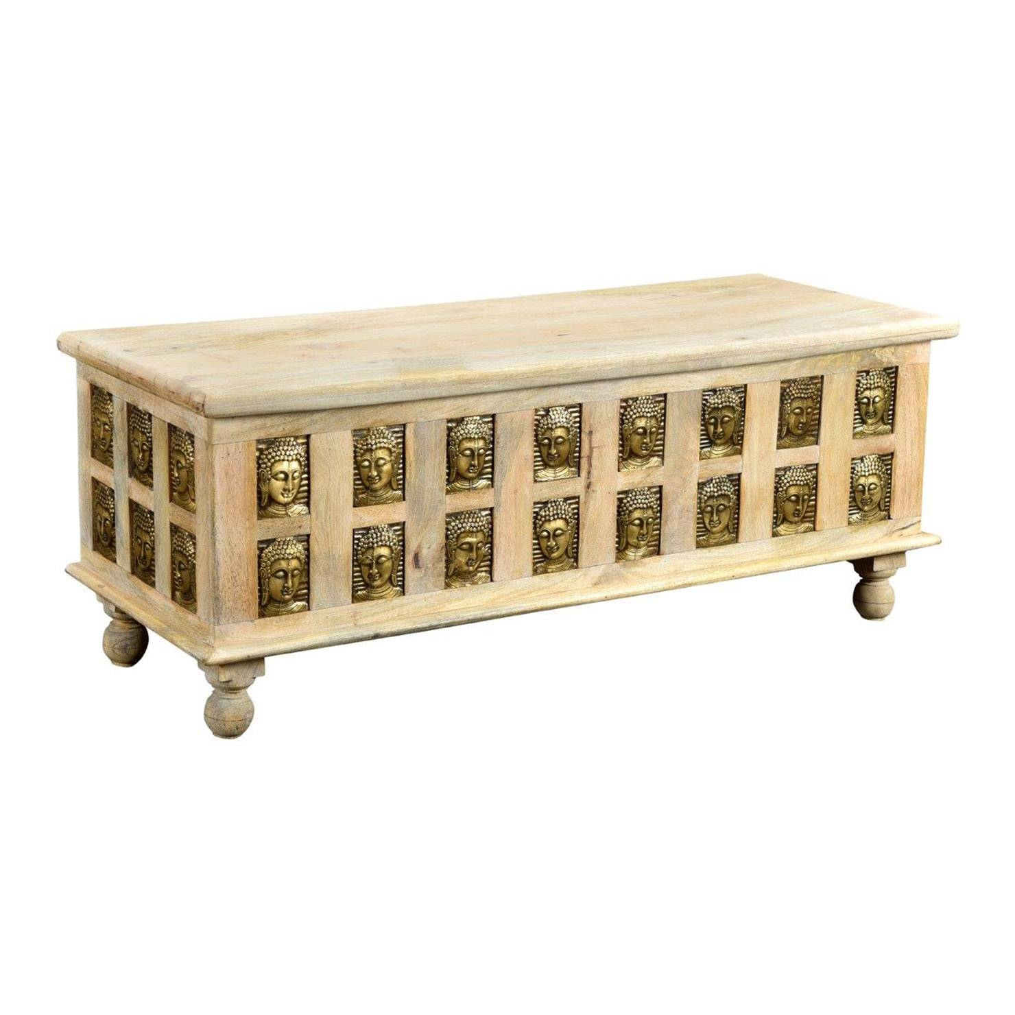Large Buddha Coffee Table, Natural/gold | Achica intended for Buddha Coffee Tables (Image 23 of 30)
