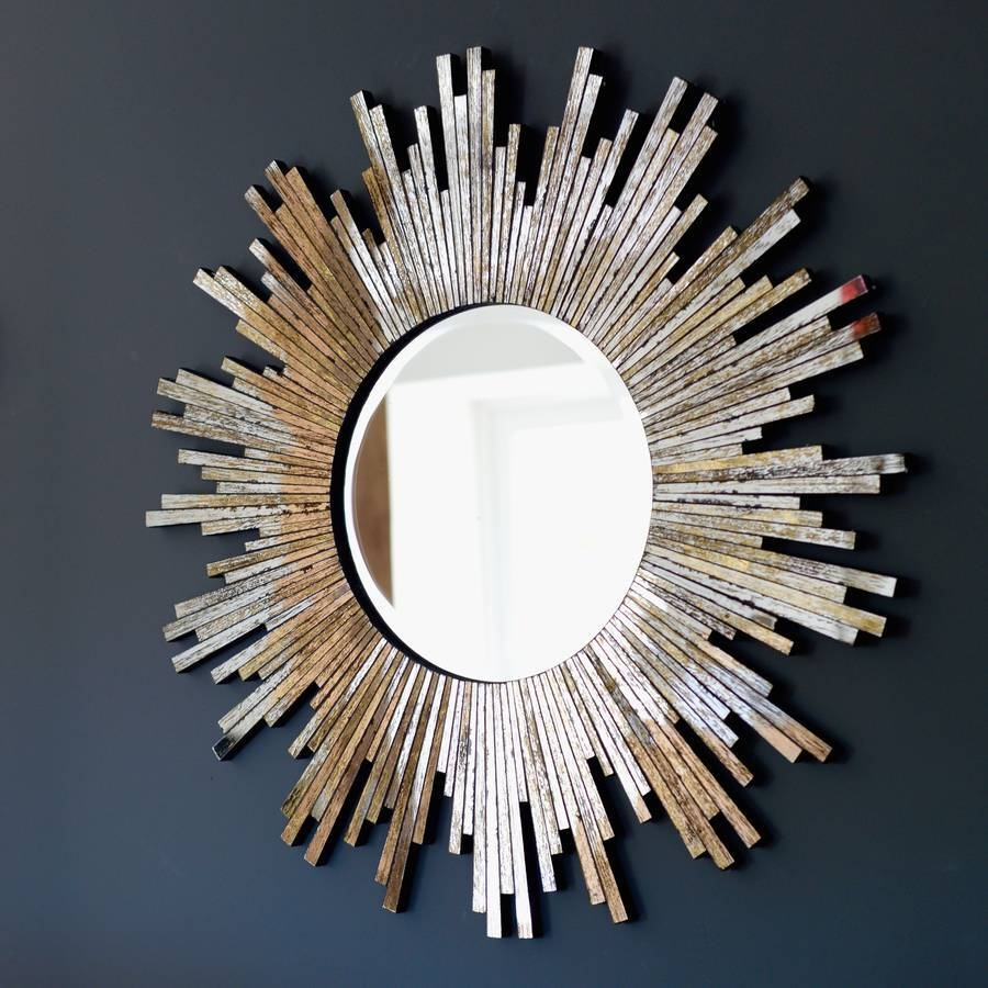 Large Burnished Sunburst Mirrorthe Forest & Co intended for Large Sunburst Mirrors (Image 12 of 25)