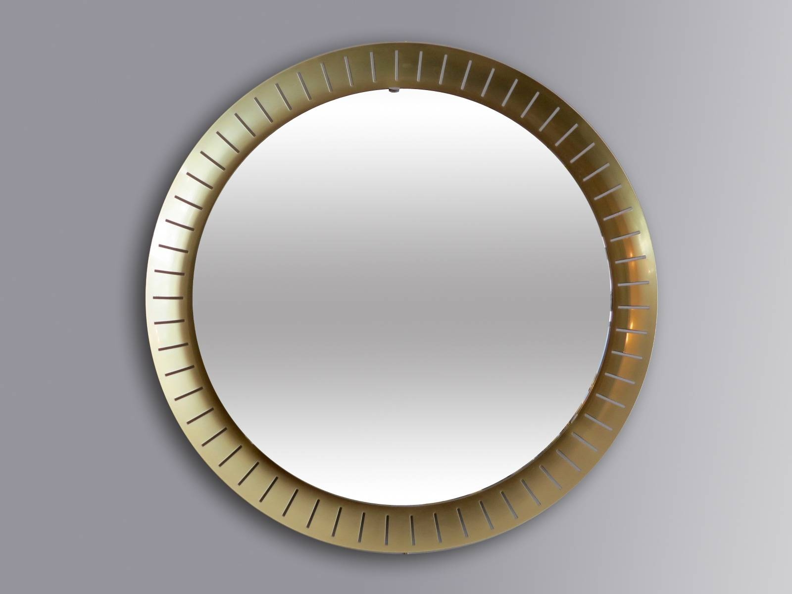 Large Circular Mirrors From Stilnovo, 1971, Set Of 2 For Sale At for Large Circular Mirrors (Image 11 of 25)