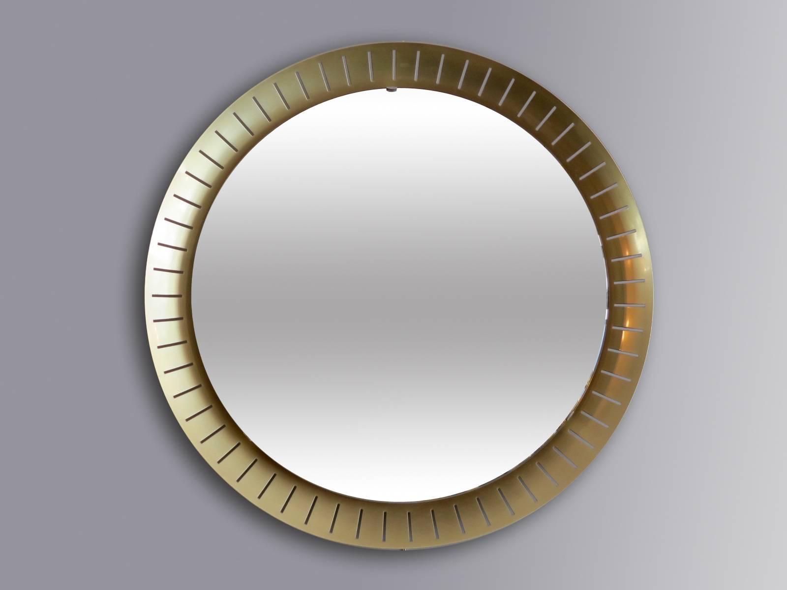 Large Circular Mirrors From Stilnovo, 1971, Set Of 2 For Sale At For Large Circular Mirrors (View 22 of 25)