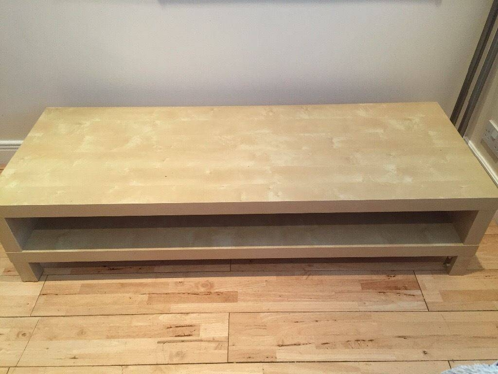 Large Coffee Table Oblong Shape Low Level Nude Colour   In Throughout Large Low Level Coffee Tables (View 11 of 30)