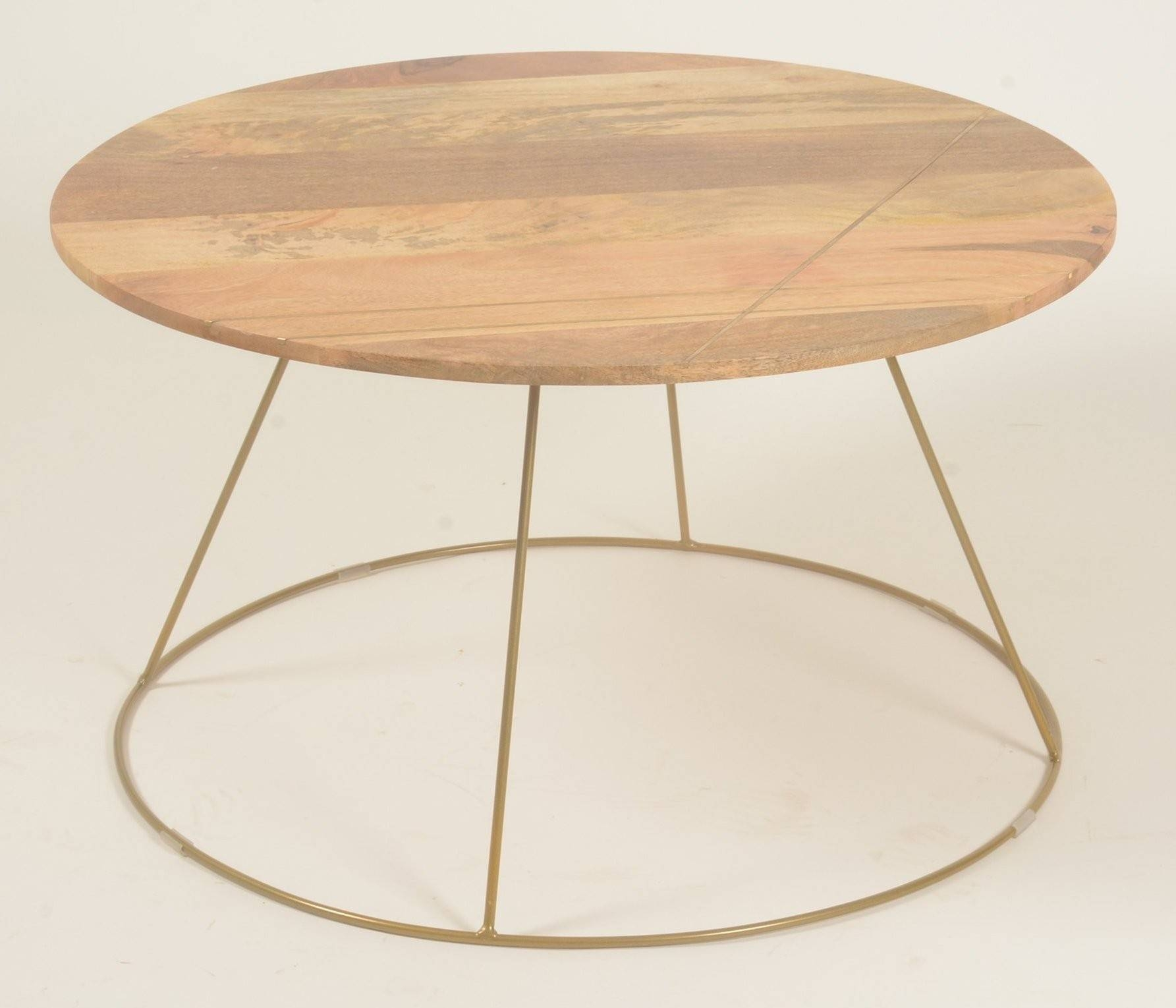 Large Coffee Table - Retro / Vintage Style, Solid Mango Wood pertaining to Mango Wood Coffee Tables (Image 13 of 30)