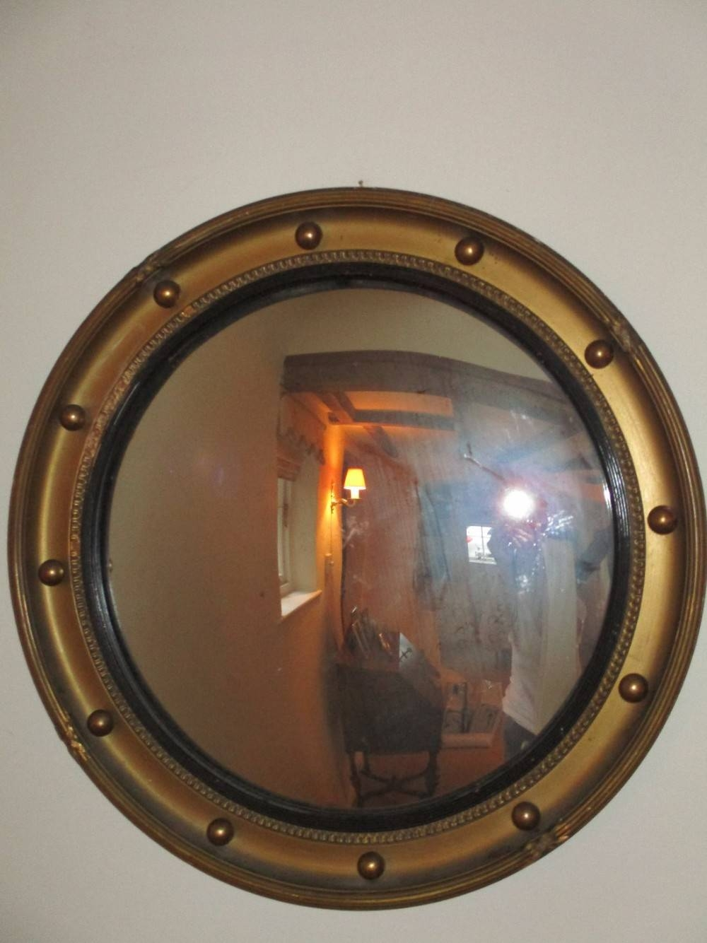 Large Convex Mirror | 441292 | Sellingantiques.co.uk pertaining to Large Convex Mirrors (Image 10 of 25)