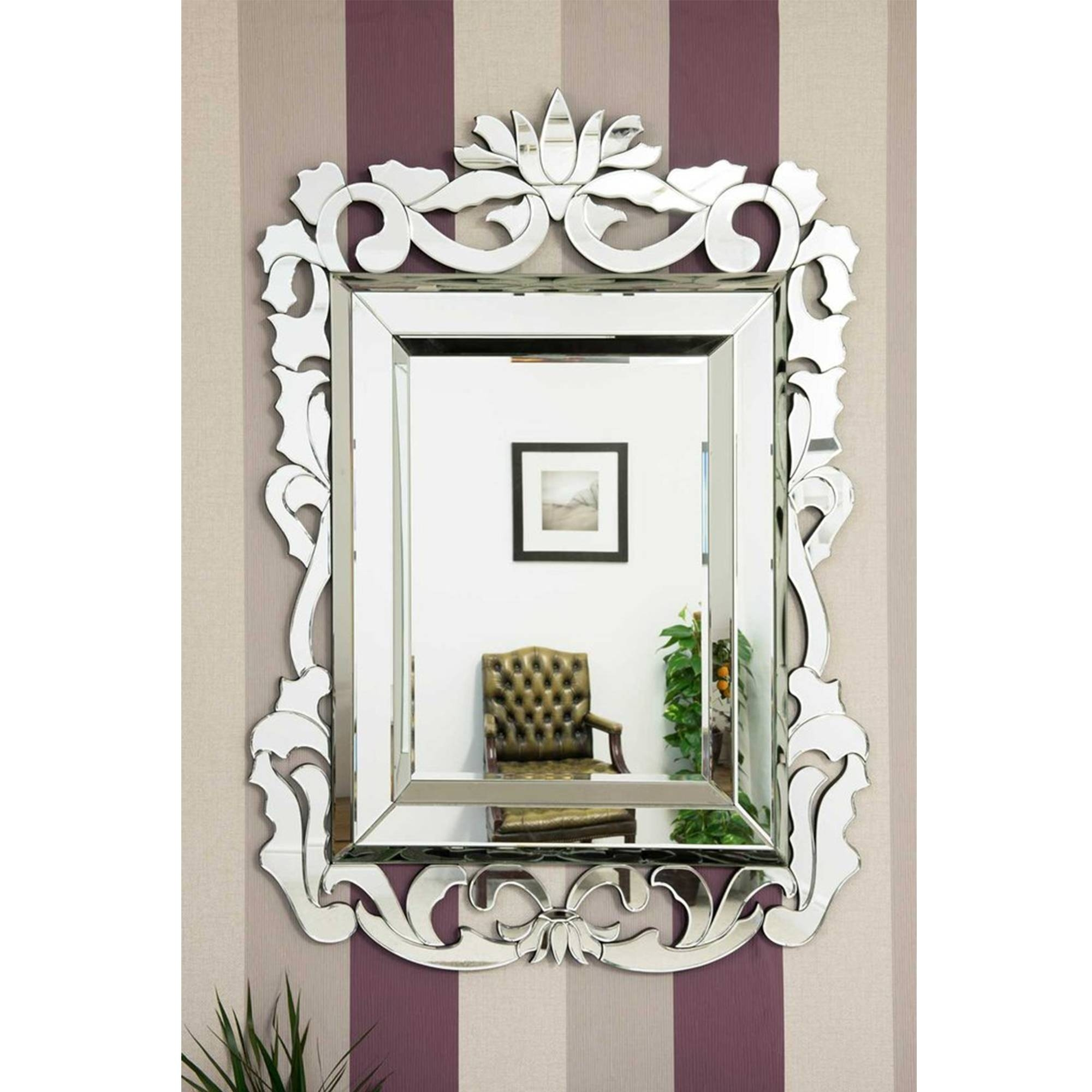Large Decorative Venetian Mirror | Decorative Glass Mirrors in Large Venetian Mirrors (Image 9 of 25)