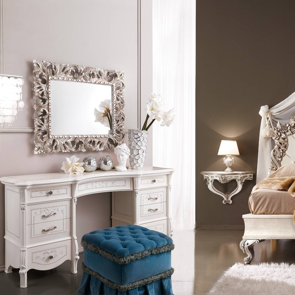 Large Designer Italian Dressing Table | Juliettes Interiors pertaining to Decorative Dressing Table Mirrors (Image 19 of 25)