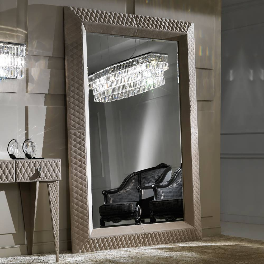 Large Floor & Dressing Mirrors – Exclusive High End Luxury Designs In Leather Mirrors (View 13 of 25)