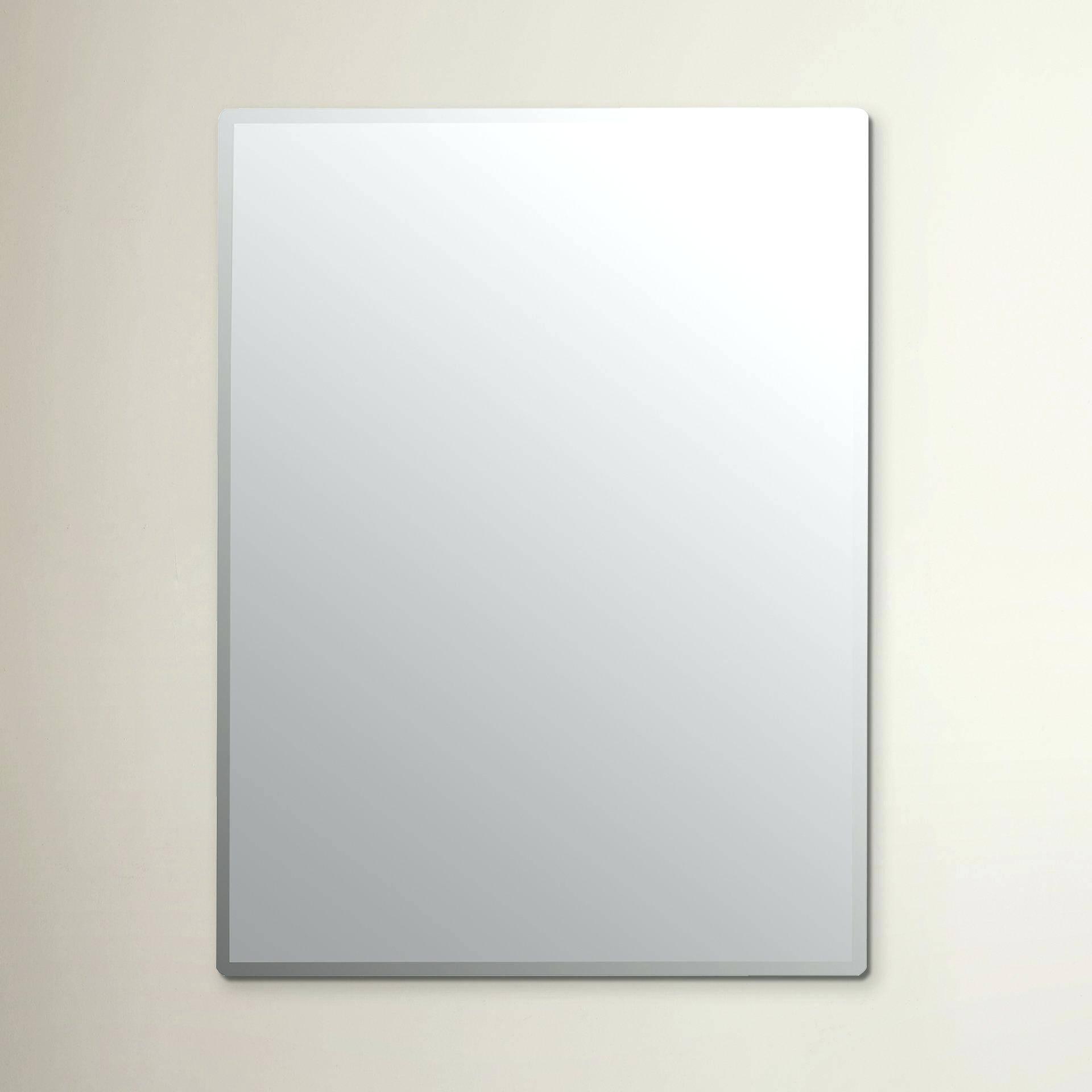 Large Frameless Beveled Wall Mirror Full Length Singapore – Shopwiz intended for Large Frameless Mirrors (Image 17 of 25)