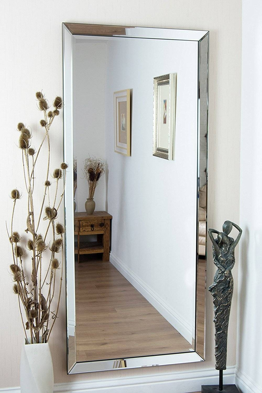 Large Frameless Wall Mirrors – Harpsounds (View 13 of 25)