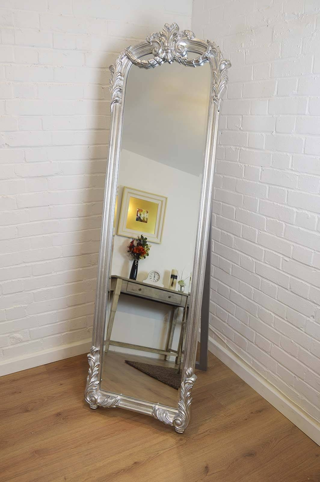 Popular Photo of Silver Free Standing Mirrors