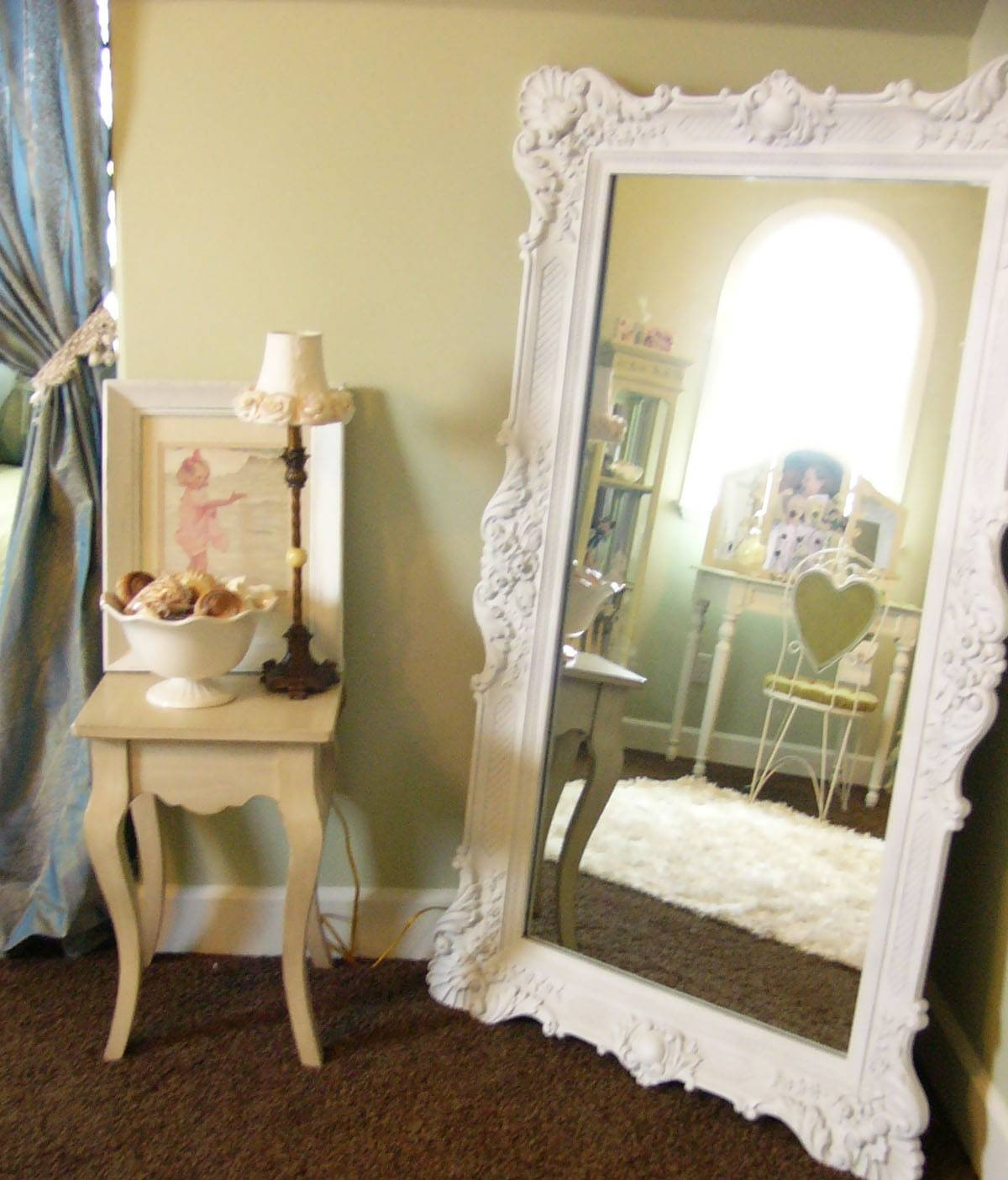 Large Free Standing Mirror – Harpsounds.co for Big White Mirrors (Image 14 of 25)