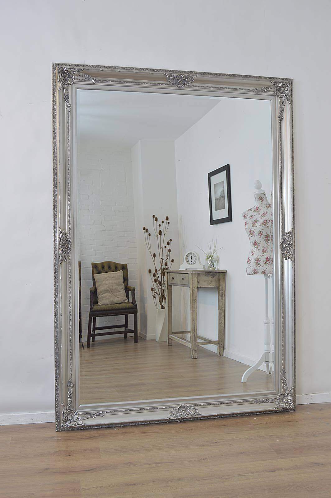 Large Free Standing Mirror – Harpsounds.co throughout Silver Floor Standing Mirrors (Image 21 of 25)