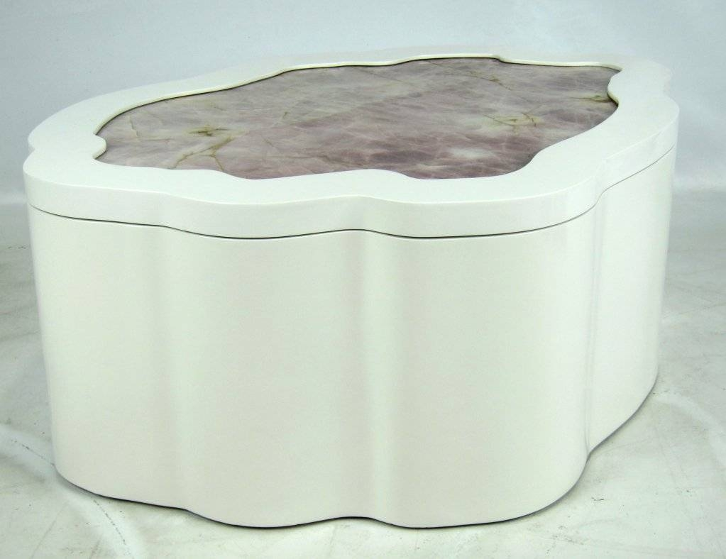 Large Freeform Coffee Table With Inset Quartz Top For Sale At 1Stdibs for Free Form Coffee Tables (Image 16 of 30)