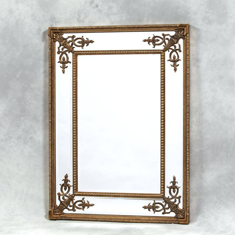 Large French Style White Floor Standing Mirrorfrench Mirrors Uk throughout Large French Style Mirrors (Image 18 of 25)