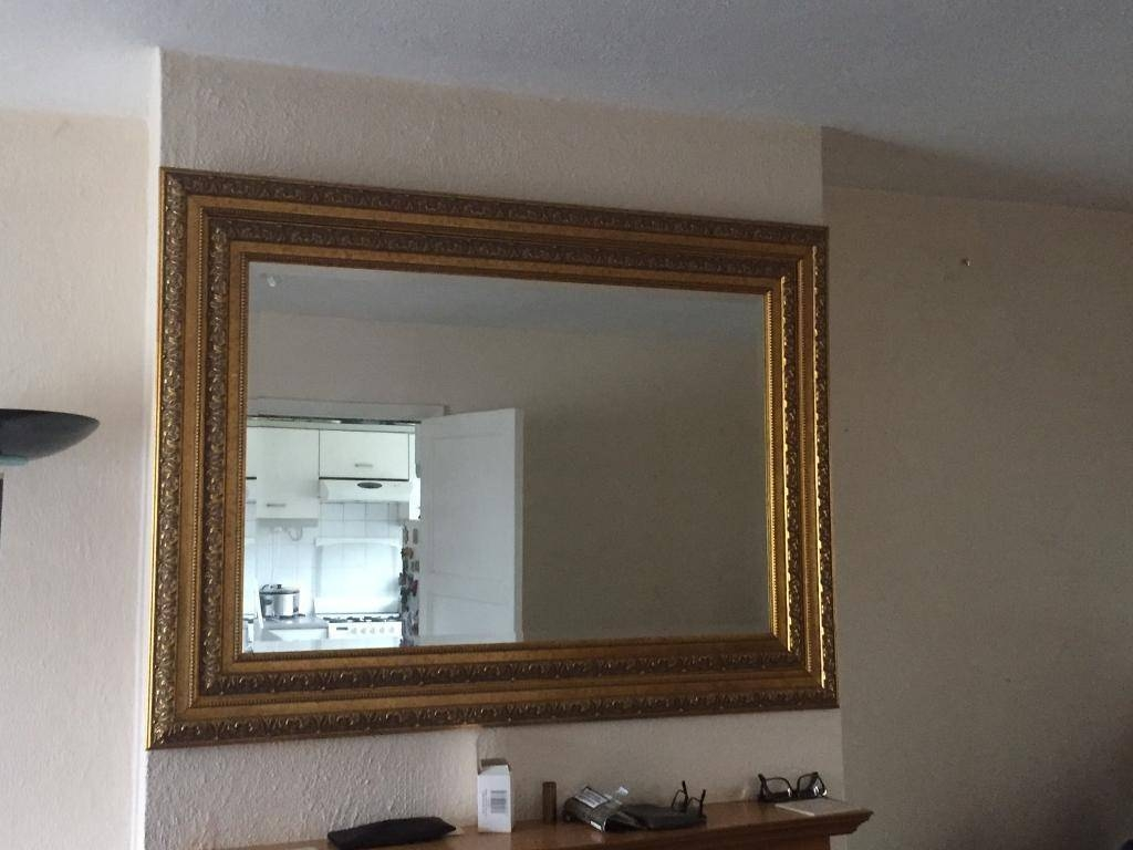Large Gilt Edged Ornate Mirror | In Exeter, Devon | Gumtree regarding Gilt Edged Mirrors (Image 12 of 25)