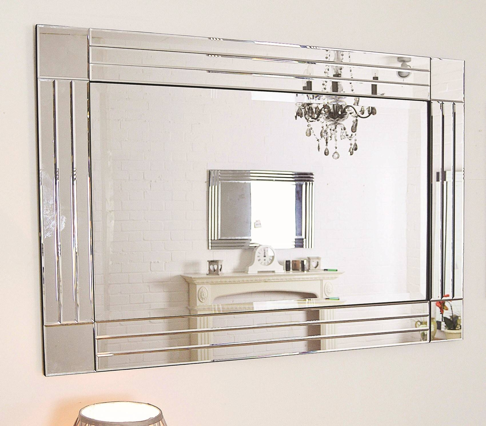 Large Glass Bevelled Wall Mirror – Harpsounds (View 16 of 25)