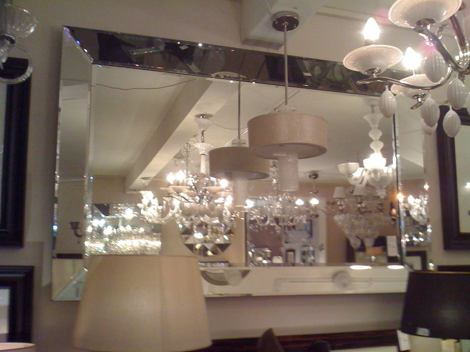 Large Glass Bevelled Wall Mirror – Harpsounds.co regarding Venetian Tray Mirrors (Image 14 of 25)